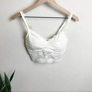Ivory / White Lace Bralette